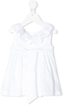 Patachou Ruffle-Neck Smocked Waist Dress