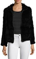 Adrienne Landau Rabbit Fur Zip Jacket