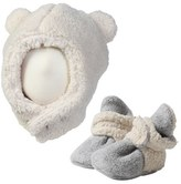 Zutano Infant Furry Bear Hat & Bootie Set