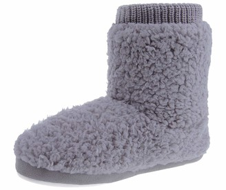 MIXIN Slipper Boots for Women Cozy Memory Foam House Slippers Grey Size UK 5 6