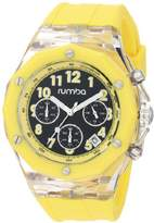 RumbaTime Men's Mercer Lemon Drop 45mm Dial Watch