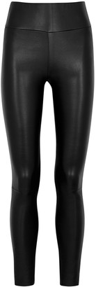 Sprwmn Black Leather Leggings