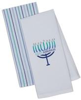 Design Imports Happy Hanukkah Set Of 2 Dish Towels