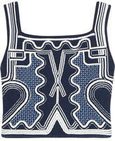 Peter Pilotto Cropped Jacquard-Knit Top