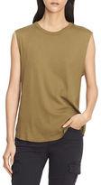 Vince Pima Cotton Shirttail Tank Shell