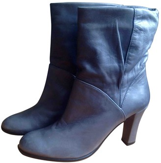 Clergerie Grey Leather Ankle boots