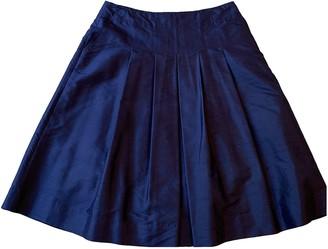 Lauren Ralph Lauren Blue Silk Skirt for Women