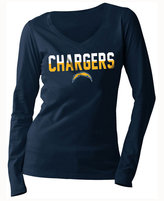 5th & Ocean Women's San Diego Chargers Huddle LE Long Sleeve T-Shirt