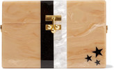 Edie Parker Stars and Stripes small acrylic box clutch