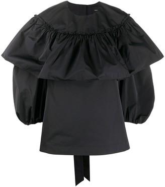 Simone Rocha Ruffled Puff-Sleeve Blouse