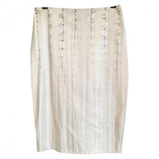Lanvin Grey Water snake Skirt for Women
