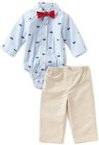 Little Me Baby Boys 3-12 Months Striped/Car-Print Bodysuit & Solid Pant Set