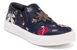 Alexander McQueen Patched Skate Slip-On Sneakers
