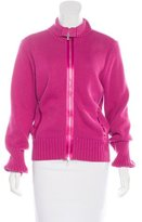 Magaschoni Knit Zip-Front Jacket