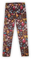 Urban Smalls Brown Birds & Flowers Leggings - Infant Toddler & Girls