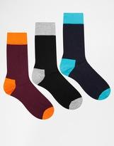 Hs By Happy Socks In 3 Pack - Multi