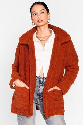 Nasty Gal Womens Teddy Faux Fur Coat - Ginger