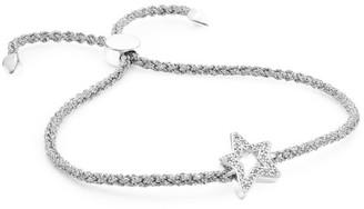 Monica Vinader Sterling Silver & Diamond Alphabet Star Friendship Bracelet