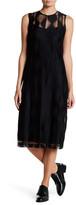 DKNY Mesh Sleeveless Dress