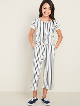 Old Navy French Terry Utility Jumpsuit for Girls