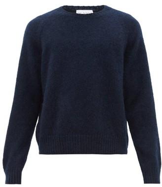 Raey Raglan Sleeve Wool Blend Sweater - Mens - Navy