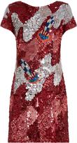 House of Holland Sequin-embellished scoop-back dress