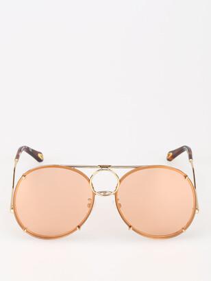 Chloé Eyewear Round Aviator Sunglasses