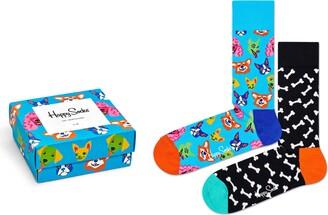 Happy Socks Dog 2-Pack Crew Socks