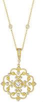 Penny Preville 18k Diamond Open Scroll Pendant Enhancer Necklace