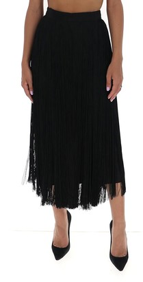 Prada Fringed High Waisted Skirt