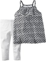 Carter's Girls 2-Piece Geometric Tank Top Blkwht