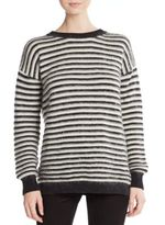 Rebecca Minkoff Worth Striped Flyaway-Back Sweater