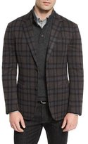 Ermenegildo Zegna Wool Plaid Blazer, Blue Pattern