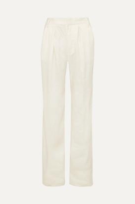 Frame Service Linen-blend Wide-leg Pants - White
