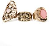 New York & Co. 3-Piece Filigree Ring Set