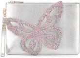 Sophia Webster Flossy butterfly applique clutch