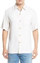 Tommy Bahama 'Havana Herringbone' Silk Camp Shirt