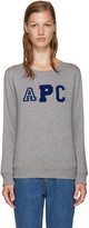 A.P.C. Grey Collegienne Sweatshirt