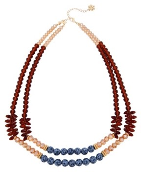 Nanette Nanette Lepore Double Row Beaded Necklace