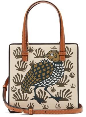 Loewe Partridge-print Leather Cross-body Bag - Womens - White Multi
