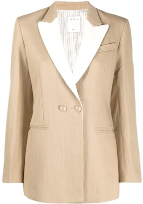 Sandro Paris Contrast-Lapel Tailored Blazer