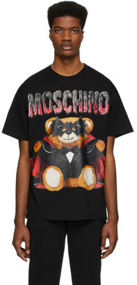 Moschino Black Bat Teddy Bear T-Shirt
