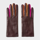 Paul Smith Women's Damson Leather Concertina Gloves