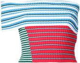 MSGM striped off-shoulder top