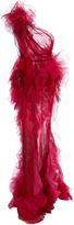 Marchesa One Shoulder Textured Gown