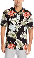 Cubavera Cuba Vera Men's Pocketed All Over Floral Printed Short Sleeve Woven Shirt