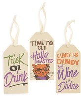 Primitives By Kathy Set Of 3 Halloween Wine Bottle Tags