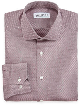 COLLECTION Collection by Michael Strahan Mens Spread Collar Long Sleeve Wrinkle Free Stretch Dress Shirt - Big and Tall