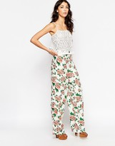 Motel Ari Palazo Pants In Floral Print