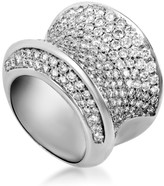 Estate 18K White Gold with 5.00ct Diamond Band Ring Size 7.75